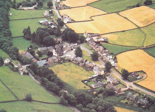 the village of Garrigill a few years ago, with St.John's chapel still at its center